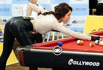 2014韩国小姐台球大赛2014韩国台球美女韩国cf新英雄