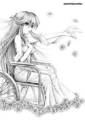铅笔手绘漫画教程:手绘樱花少女