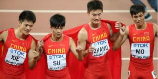 中国队获男子4X100米接力银牌创历史