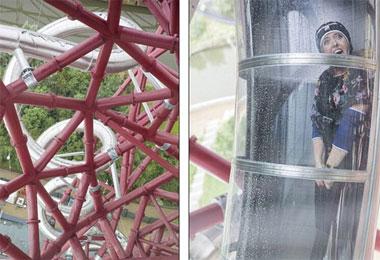 伦敦奥运塔变身隧道滑梯