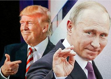 """特朗普和普京被指""""秘密会晤"""""""