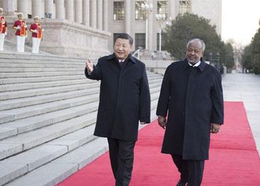 习近平同吉布提总统举行会谈