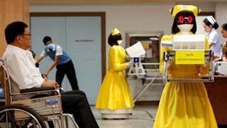 """中国造机器人""""护士""""亮相泰国医院"""