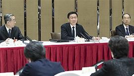 韩正与民革 民进界委员共商国是