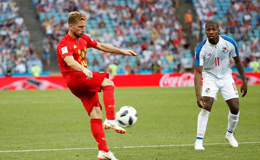 默滕斯世界波卢卡库2球 比利时3-0巴拿马