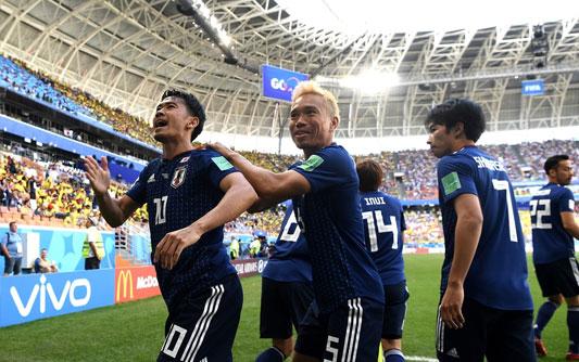 本田助攻香川点射 日本2-1复仇哥伦比亚
