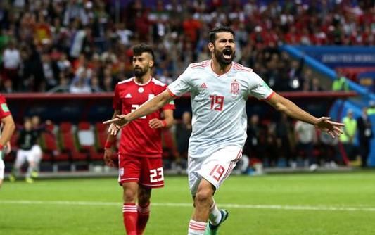 科斯塔连场破门 西班牙1-0伊朗