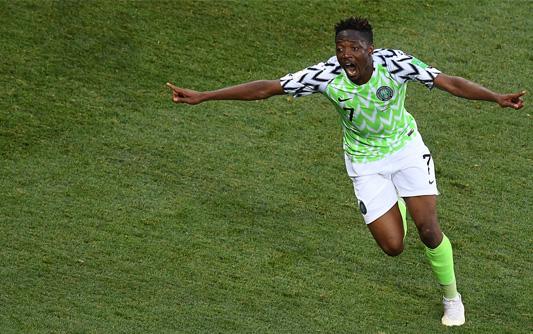 穆萨梅开二度尼日利亚2-0冰岛 D组出线形势复杂