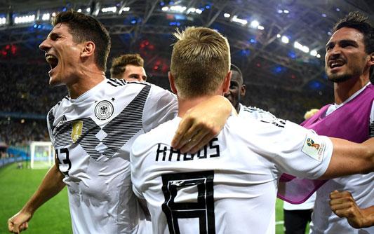 罗伊斯建功克罗斯读秒绝杀 10人德国2-1逆转瑞典(3D视频)