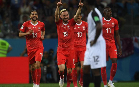 哲马伊利德尔米奇建功 瑞士2-2平哥斯达黎加小组出线