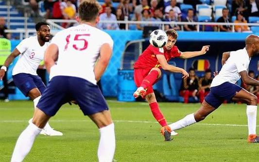 英格兰丢单刀 比利时1-0英格兰夺头名出线将战日本
