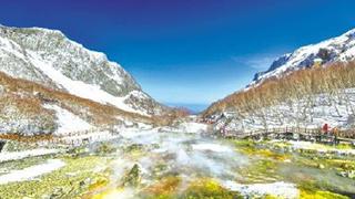 吉林:长白山火山科考 实拍天池水下温泉带