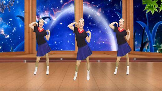 红领巾广场舞教学:《漂亮的姑娘嫁给我吧》正背面演示慢速口令教学