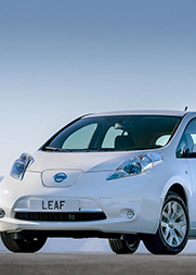 电动汽车碰撞测试 日产Leaf正面碰撞测试