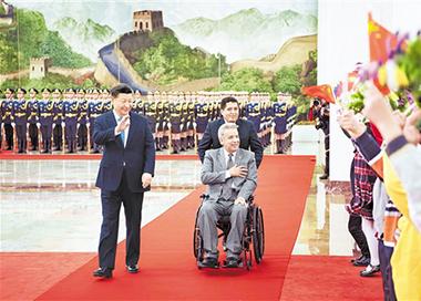 习近平举行仪式欢迎厄瓜多尔总统访华