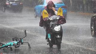 中国多地遭遇强降雨