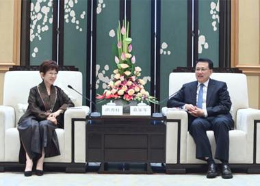 袁家军会见中国国民党前主席洪秀柱